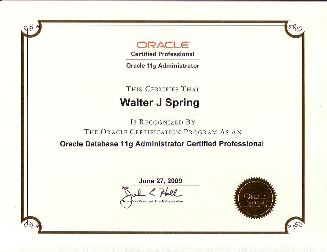 Oracle database 11g administrator certified professional jun2009 xflitez Gallery