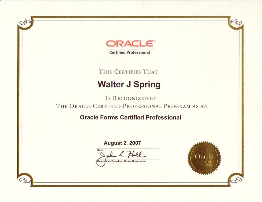 Walters professional certificates oracle certification program xflitez Images